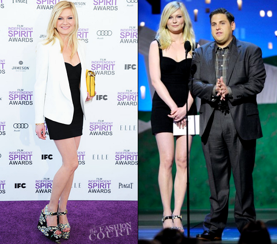Kirsten Dunst in Dolce & Gabbana and Chloé | 2012 Film Independent Spirit Awards
