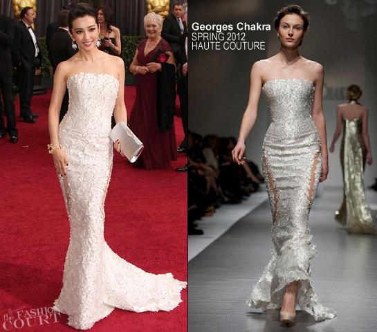 Li Bingbing in Georges Chakra | 2012 Oscars