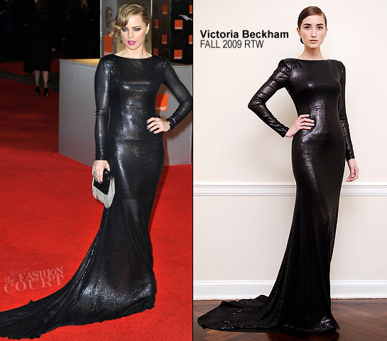Melissa George in Victoria Beckham | 2012 BAFTA Awards