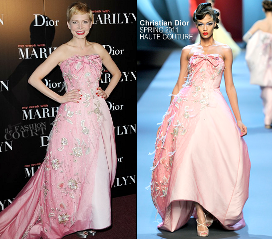 Michelle Williams in Christian Dior Couture | 'My Week With Marilyn' Paris Premiere