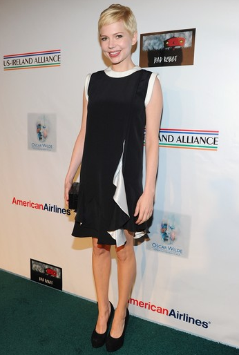 Michelle Williams in Givenchy | 7th Annual 'Oscar Wilde: Honoring The Irish In Film' Pre-Academy Awards Party