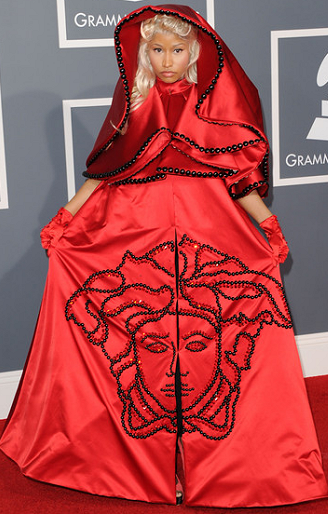 Nicki Minaj in Atelier Versace | 2012 GRAMMY Awards