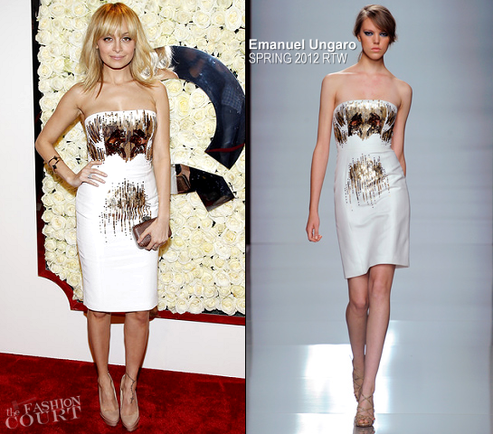 Nicole Richie in Emanuel Ungaro | QVC's 'Buzz On The Red Carpet' Cocktail Party