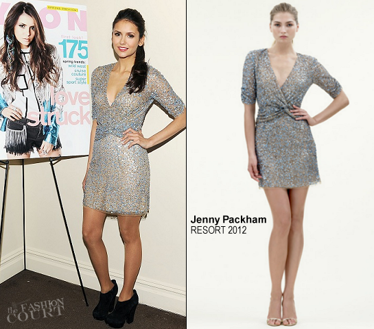 Nina Dobrev in Jenny Packham | NYLON February Issue Celebration