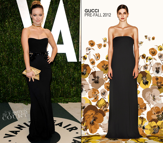 Olivia Wilde in Gucci | 2012 Vanity Fair Oscar Party
