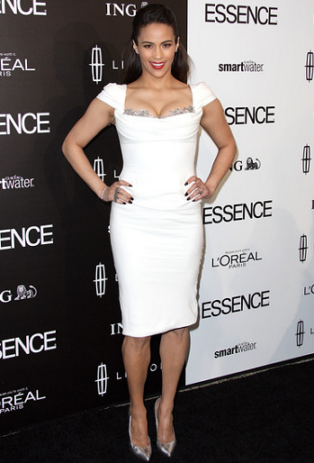 Paula Patton in Marchesa | 5th Annual ESSENCE Black Women In Hollywood Luncheon