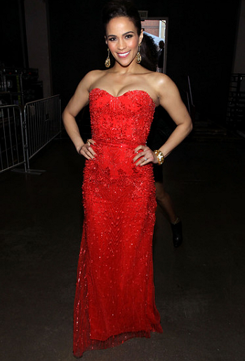 Paula Patton in Monique Lhuillier | 2012 NAACP Image Awards