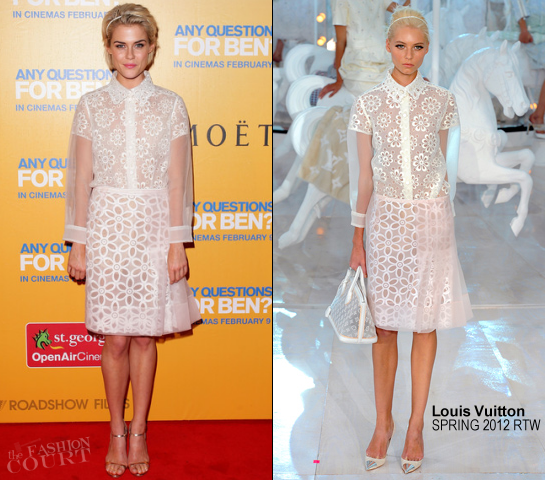 Rachael Taylor in Louis Vuitton | 'Any Questions For Ben?' Sydney Premiere