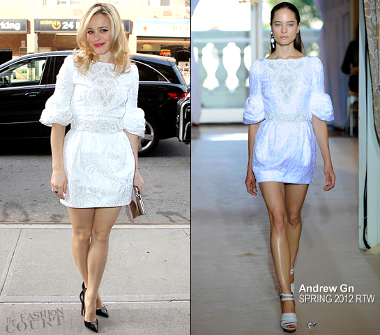 Rachel McAdams in Andrew Gn | Promoting 'The Vow' in NYC
