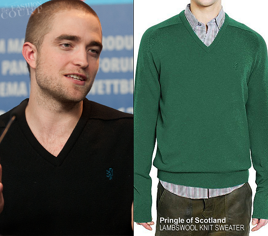 Robert Pattinson in Pringle of Scotland | 2012 Berlinale Film Festival - 'Bel Ami' Photocall