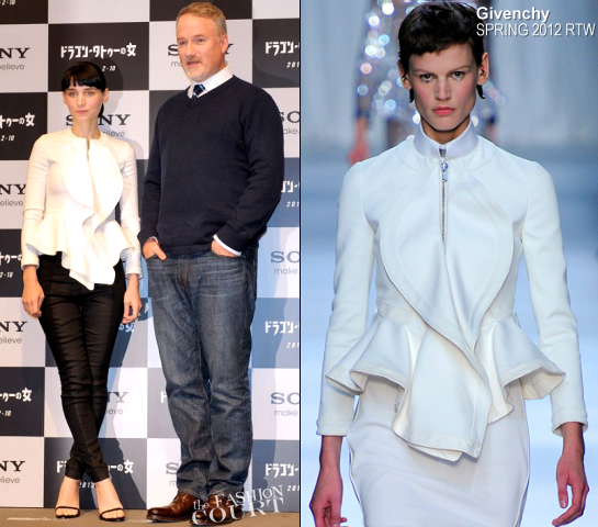 Rooney Mara in Givenchy & H&M | 'The Girl with the Dragon Tattoo' Tokyo Photocall