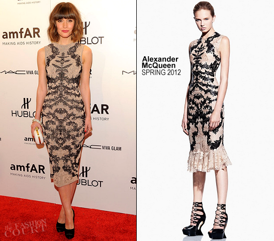Rose Byrne in Alexander McQueen | amfAR New York Gala To Kick Off Fall 2012 ...