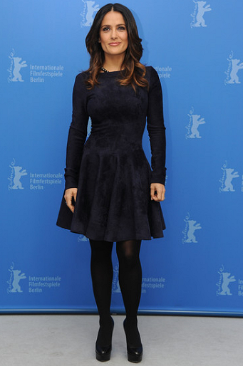 Salma Hayek in Azzedine Alaïa | 2012 Berlinale Film Festival - 'La Chispa De La Vida' Photocall