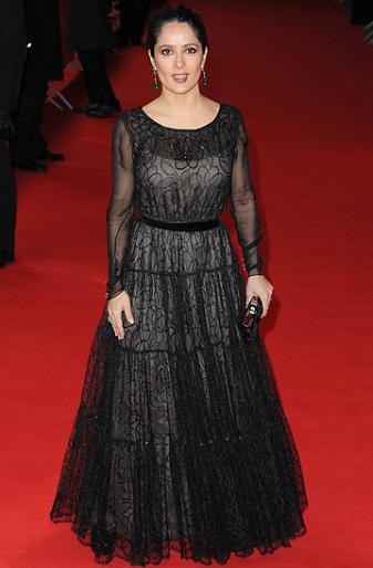 Salma Hayek in Yves Saint Laurent | 2012 Berlinale Film Festival - 'La Chispa De La Vida' Premiere