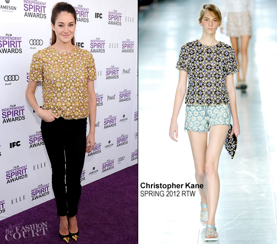 Shailene Woodley in Christopher Kane | 2012 Film Independent Spirit Awards