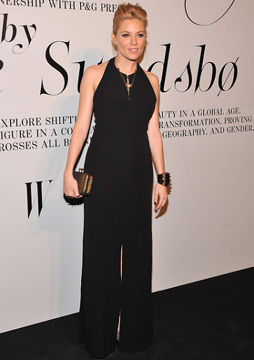 Sienna Miller in BOSS Black | 'The Ever Changing Face Of Beauty' Reception