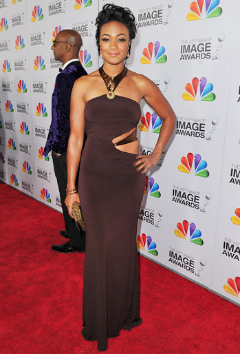 Tatyana Ali in Lloyd Klein | 2012 NAACP Image Awards