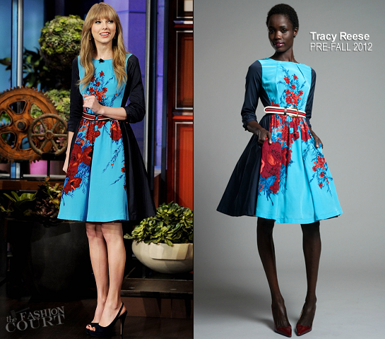 Taylor Swift in Tracy Reese | 'The Tonight Show with Jay Leno'