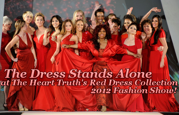 The Dress Stands On Its Own At The Heart Truth's 2012 Fashion Show!
