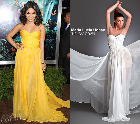 Vanessa Hudgens in Maria Lucia Hohan | 'Journey 2: The Mysterious Island' LA Premiere