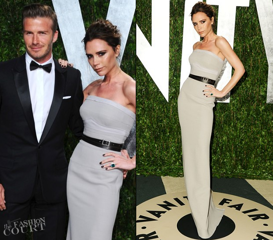 Victoria Beckham in Victoria Beckham Collection | 2012 Vanity Fair Oscar Party