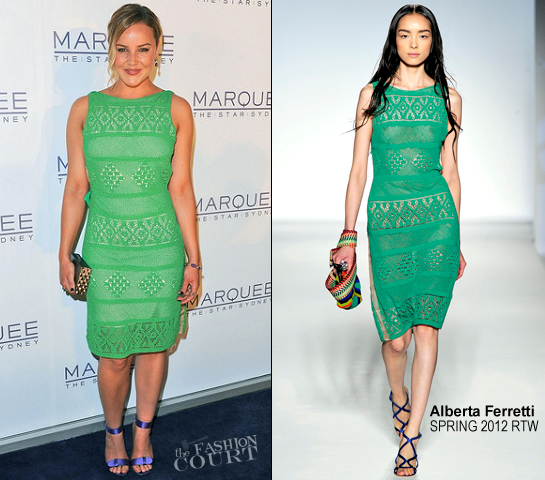 Abbie Cornish in Alberta Ferretti | Marquee At The Star Opens In Sydney