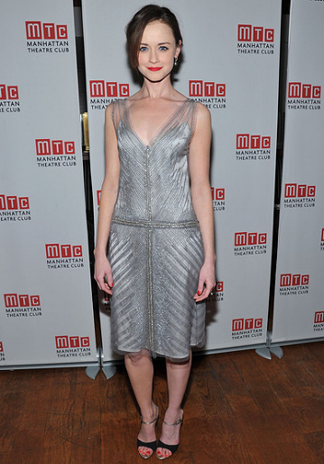 Alexis Bledel in Alberta Ferretti | 'Regrets' Off-Broadway Opening Night