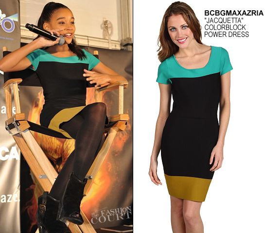 Amandla Stenberg in BCBGMAXAZRIA | 'The Hunger Games' U.S. Tour - Atlanta