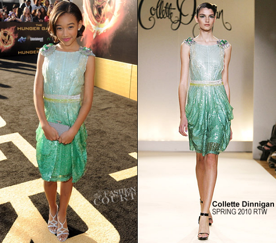 Amandla Stenberg in Collette Dinnigan | 'The Hunger Games' LA Premiere