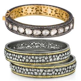 Amrapali 18k Gold, Diamond, Stone Bangles