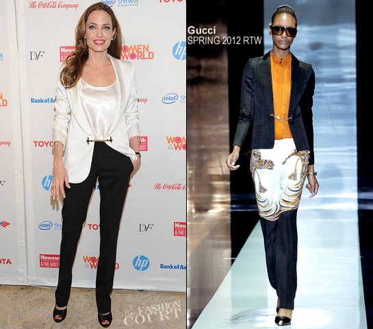 Angelina Jolie in Gucci | 3rd Annual Women in the World Summit