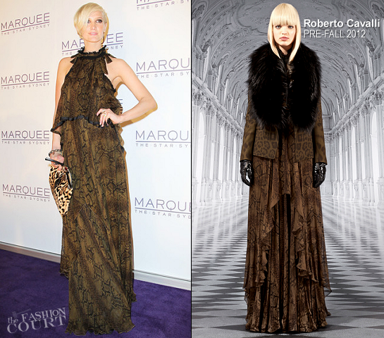 Ashlee Simpson in Roberto Cavalli | Marquee At The Star Opens In Sydney