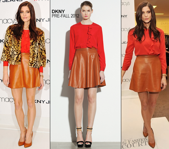 Ashley Greene in DKNY | Visiting Macy's Herald Square