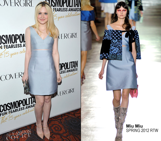 Dakota Fanning in Miu Miu | Cosmopolitan Fun Fearless Men And Women Of 2012 Awards