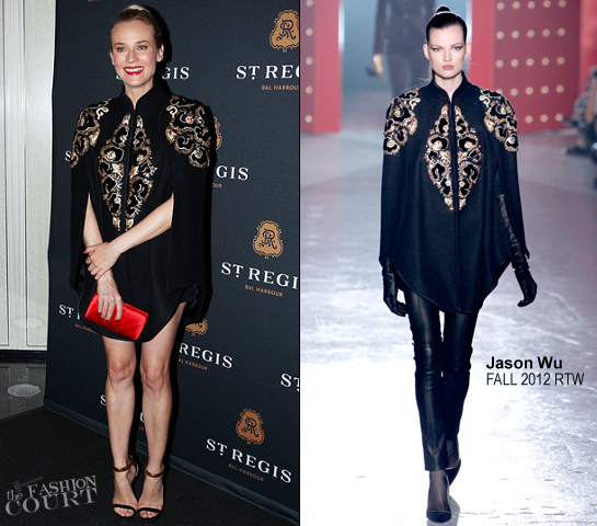 Diane Kruger in Jason Wu | Debut Of The St. Regis Bal Harbour Resort & Residences