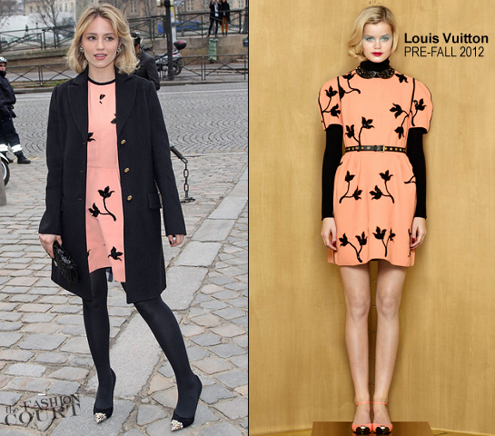 Dianna Agron in Louis Vuitton | Paris Fashion Week: Fall 2012 - Louis Vuitton