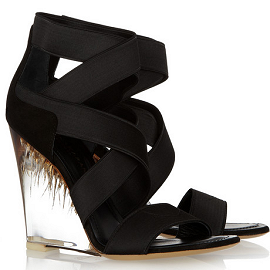 Donna Karan Elasticated Strappy Wedge Sandals
