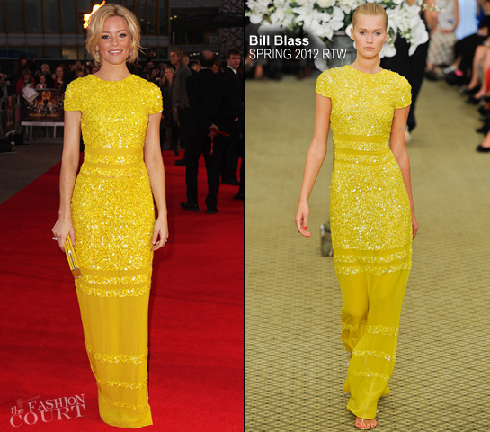 Elizabeth Banks in Bill Blass | 'The Hunger Games' London Premiere