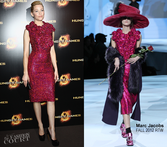 Elizabeth Banks in Marc Jacobs | 'The Hunger Games' Paris Premiere
