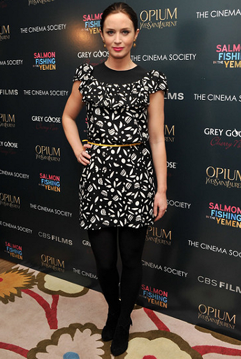 Emily Blunt in Miu Miu | 'Salmon Fishing in the Yemen' NY Screening