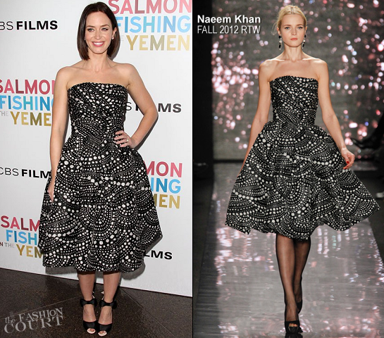 Emily Blunt in Naeem Khan | 'Salmon Fishing In the Yemen' LA Premiere
