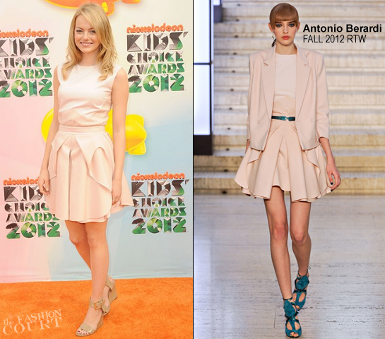 Emma Stone in Antonio Berardi | 2012 Kids' Choice Awards