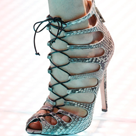 Giambattista Valli Spring 2012 Lace Up Booties