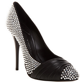 Giuseppe Zanotti Crystal-Studded Leather Wrap Pumps