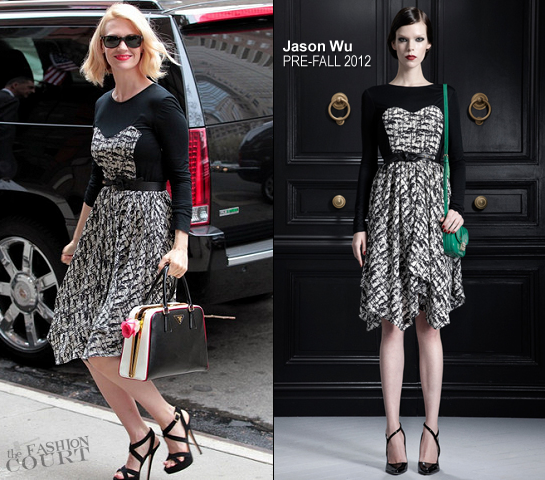 January Jones in Jason Wu | The Cast Of 'Mad Men' Rings The New York Stock Exchange Opening Bell