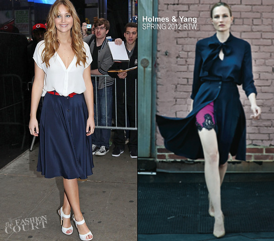 Jennifer Lawrence in Joie and Holmes & Yang | 'Good Morning America'