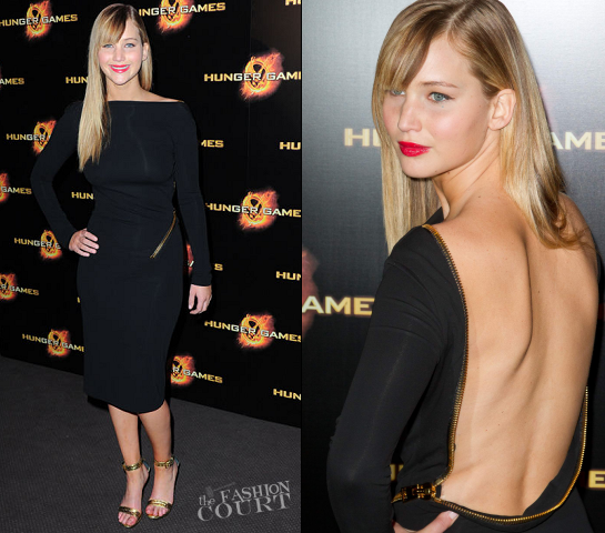 Jennifer Lawrence in Tom Ford | 'The Hunger Games' Paris Premiere