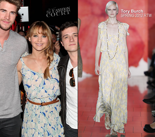 Jennifer Lawrence in Tory Burch | The Hunger Games U.S. Mall Tour Kick-Off