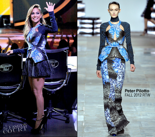 Jennifer Lopez in Peter Pilotto | 'American Idol' Top 9 To 8 Live Elimination Show