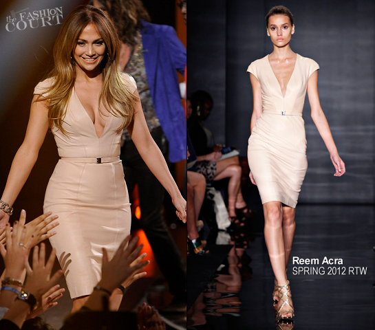 Jennifer Lopez in Reem Acra | 'American Idol' Season 11 - Top 13 To 12 Live Elimination Show